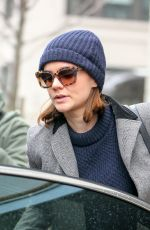 CAREY MULLIGAN Leaves an Office in Soho