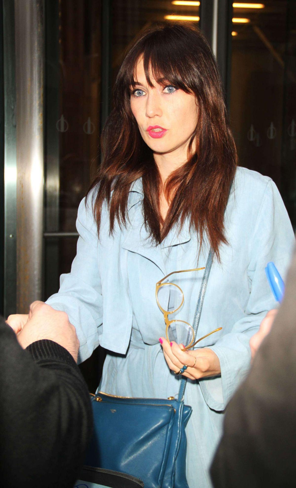 CARICE VAN OUTEN Leaves SiriusXM Studios in New York 04/14/2015