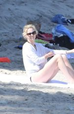 CHARLIZE THERON in Bikini Bottom on the Beach in Malibu