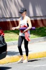 CHARLIZE THERON Leaves a Yoga Class in West Hollywood