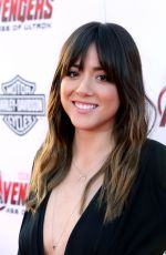 CHLOE BENNET at Avengers: Age of Ultron Premiere in Hollywood