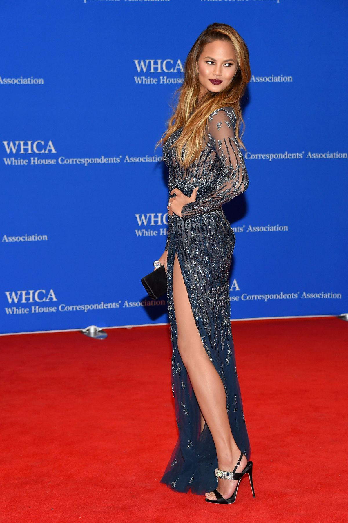 CHRISSY TEIGEN at White House Correspondents Association Dinner in ...
