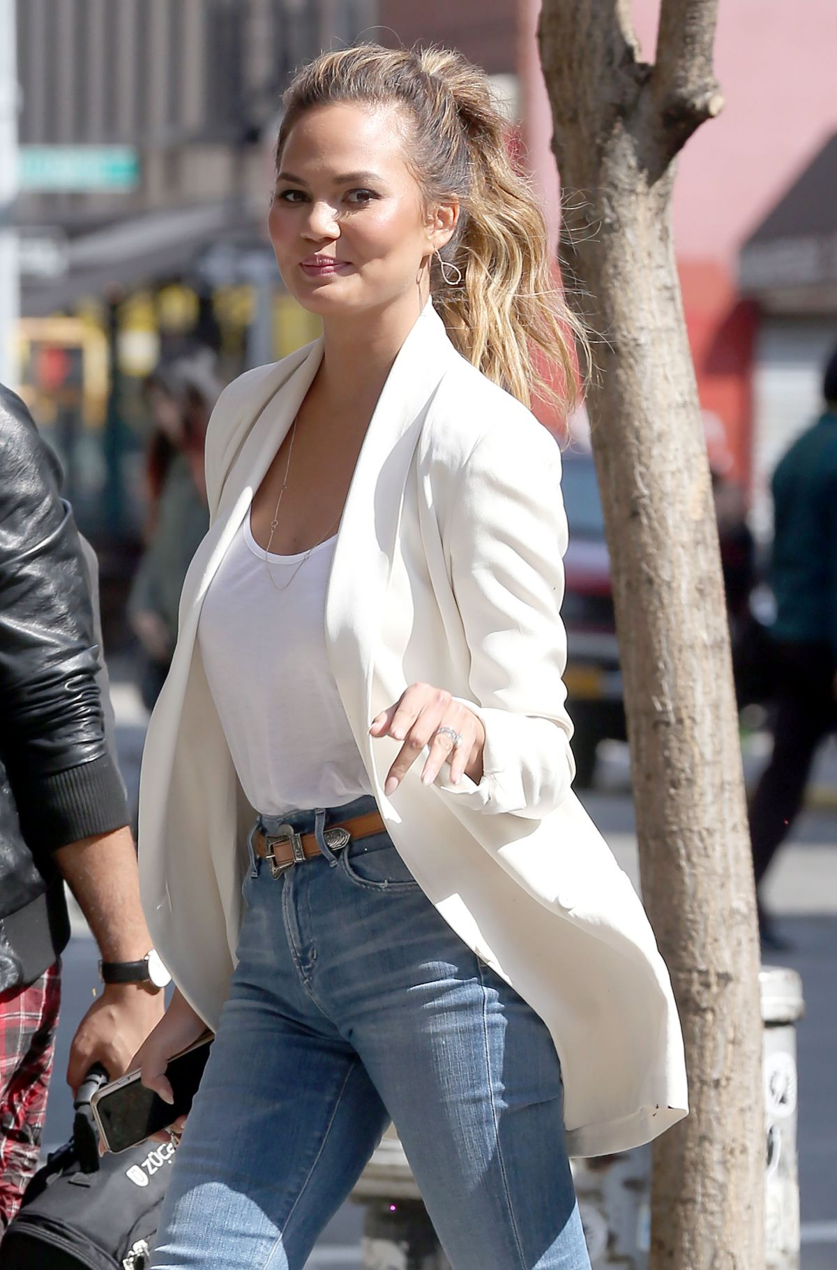CHRISSY TEIGEN in Jeans Out and About in Los Angeles