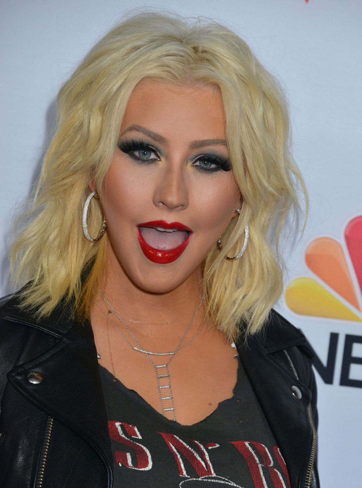 CHRISTINA AGUILERA at The Voice, Season 8 Red Carpet Event ... Christina Aguilera