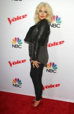 CHRISTINA AGUILERA at The Voice, Season 8 Red Carpet Event in West Hollywood