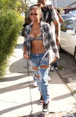 CHRISTINA MILIAN in Ripped Jeans and Tank Top Out in Los Angeles