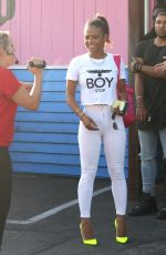 CHRISTINA MILIAN Outside a Pink tTaco in Los Angeles
