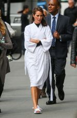 CHRISTY TURLINGTON on the Set of a Photoshoot in New York 04/17/2015