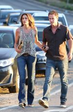 CINDY CRAWFORD Arriving at Gregg Allman Concert at the Canyon Club in Agoura Hills