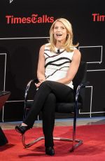 CLAIRE DANES at Time Talks at TimesCenter in New York
