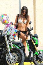 CLAUDIA ROMANI in Bikini Out and About in Miami 04/14/2015