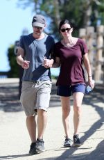 COURTNEY COX Out Hiking in Malibu 04/27/2015