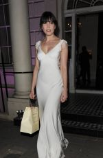 DAISY LOWE Arrives at the Blossom Ball in London