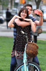 DAKOTA JOHNSON on the Set How to Be Single in New York 04/23/2015