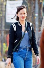 DAKOTA JOHNSON on the Set of How to be Single in New York 04/21/2015