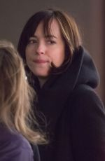 DAKOTA JOHNSON on the Set of How to be Single in New York 04/24/2015