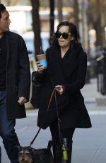 DAKOTA JOHNSON Walks Her Dog Out in New York 04/24/2015