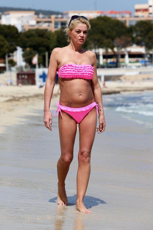 DANNIELLA WESTBROOK in Bikini at a Beach in Spain
