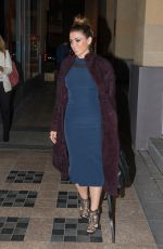 DANNII MINOGUE Arrives at the Project in Melbourne