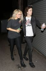 DEBBY RYAN Arrives at Troubadour in West Hollywood 04/27/2015