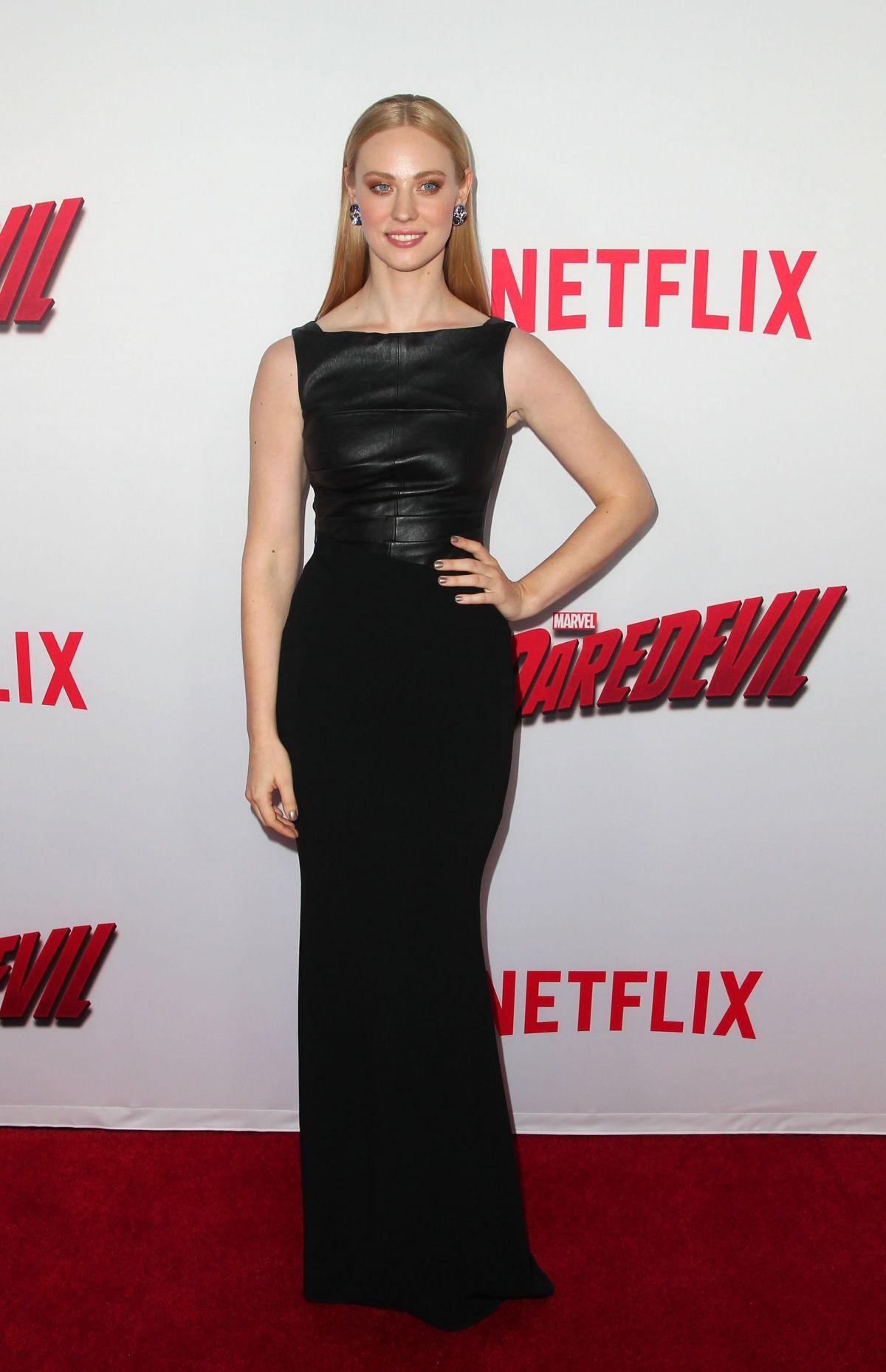 DEBORAH ANN WOLL at Daredevil Premiere in Los Angeles