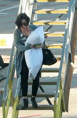 DEMI LOVATO Arrives at Perth Domestic Airport