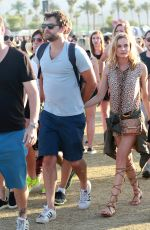 DIANE KRUGER at Coachella Music Festival at Empire Polo Grounds in Indio