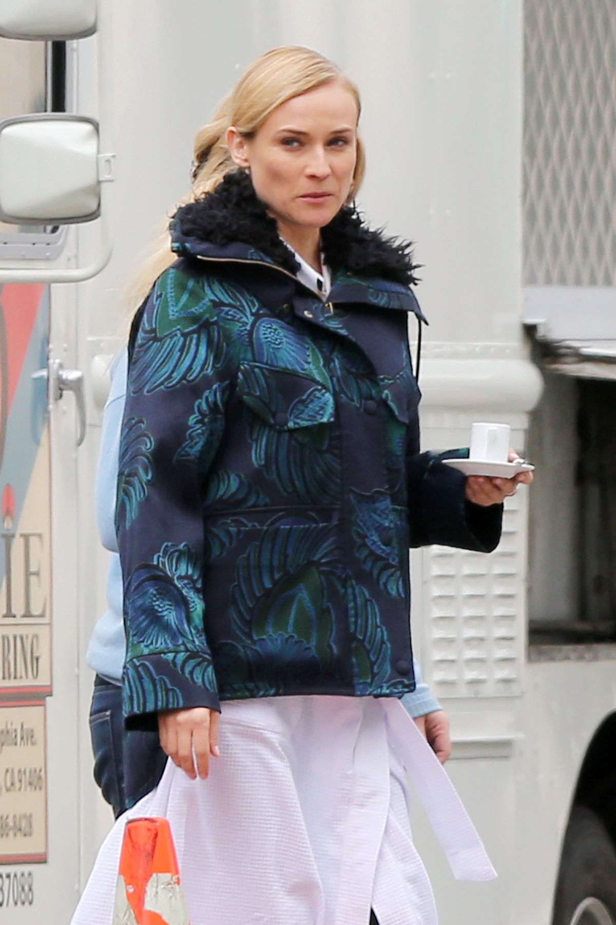 DIANE KRUGER on the Set of a Photoshoot for Chanel in Los Angeles