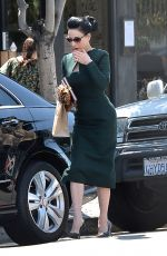 DITA VON TEESE Out and About in Los Angeles 04/20/2015