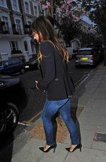 ELIZABETH HURLEY Night Out in London 04/27/2015