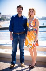 ELIZABETH MITCHELL at Crossing Lines Photocall in Cannes