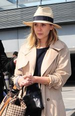 ELIZABETH OLSEN Arrives at Heathrow Airport in London 04/20/2015