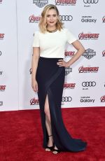 ELIZABETH OLSEN at Avengers: Age of Ultron Premiere in Hollywood