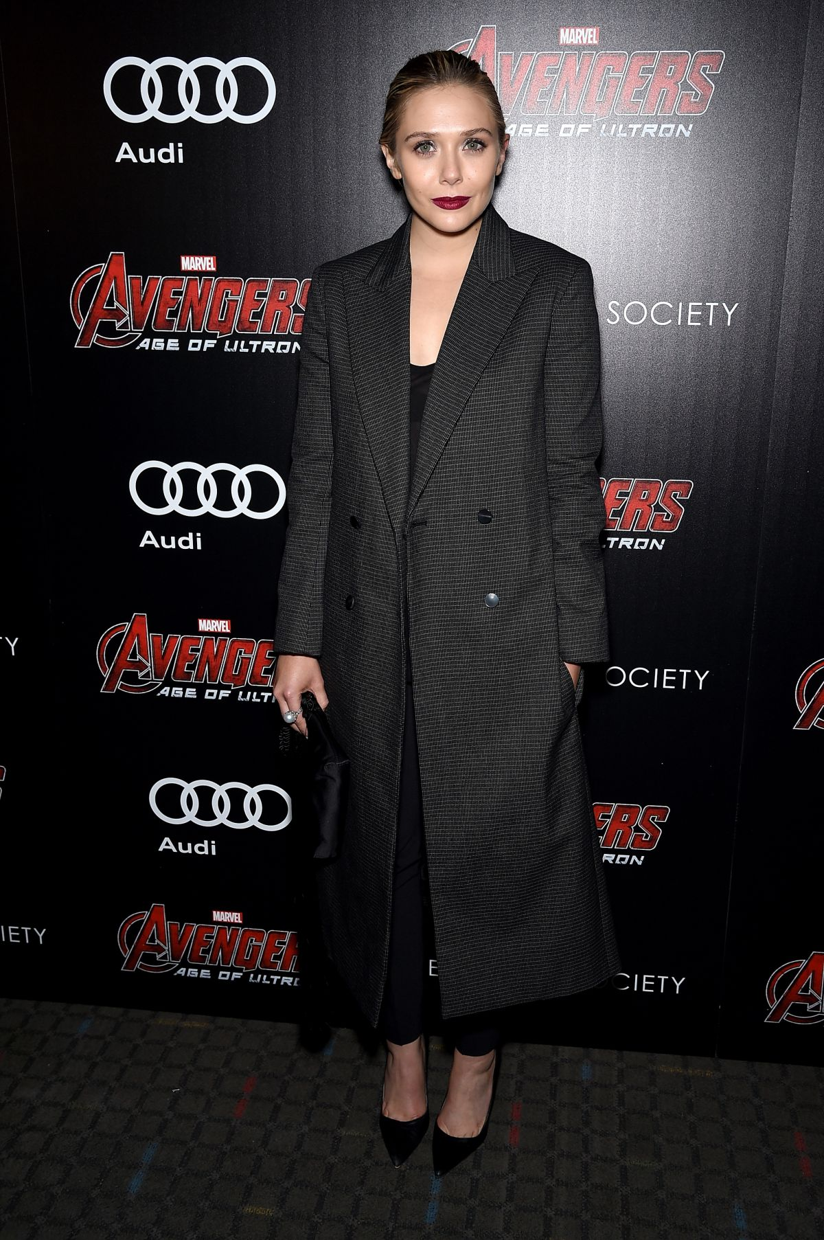 ELIZABETH OLSEN at Avengers: Age of Ultron Screening in New York