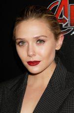 ELIZABETH OLSEN at Avengers: Age of Ultron Screening in New York