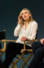 ELIZABETH OLSEN at Meet the Filmmakers Avengers:Age of Ultron at Apple Store in London