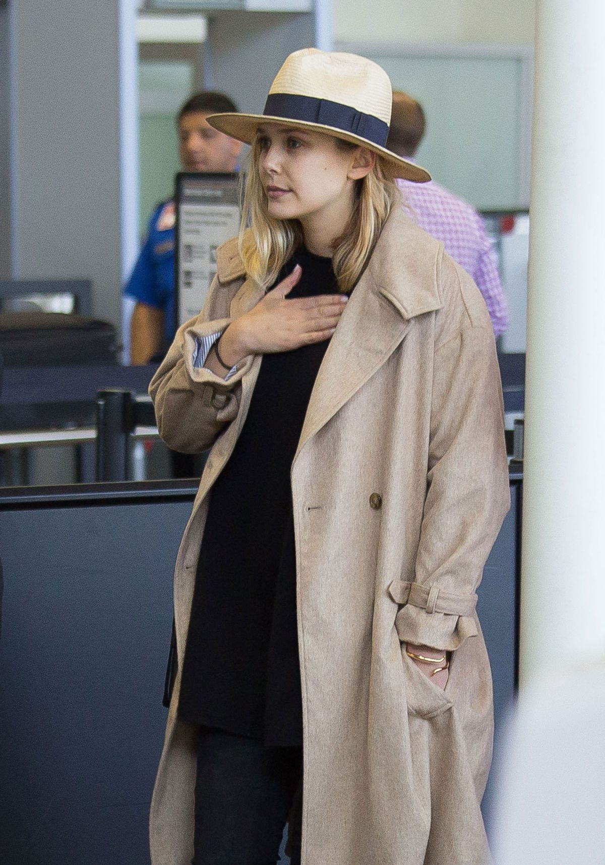 ELIZABETH OLSEN Departing from LAX Airport 04/19/2015