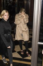 ELIZABETH OLSEN Leaves Her Hotel in London 04/20/2015