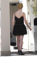 ELLE FANNING Arrives at Dermatologist in Beverly Hills