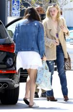 ELLE FANNING Out and About in Bevrly Hills