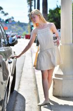 ELLE FANNING Out and About in Studio City 04/26/2015