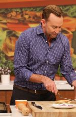 EMILY OSMENT on the Set of The Chew Show