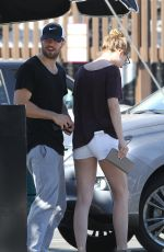 EMILY VANCAMP in Shorts at Sugarfish in West Hollywood