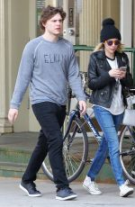 EMMA ROBERTS and Evan Peters Out and About in Beverly Hills