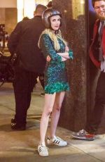 EMMA ROBERTS on the Set of Nerve in New York