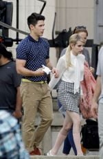 EMMA ROBERTS on the Set of Scream Queens in New Orleans