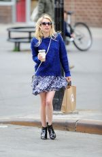 EMMA ROBERTS Out and About in New York 04/16/2015