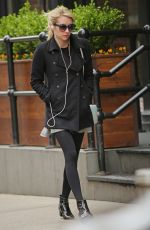 EMMA ROBERTS Out and About in New York 04/17/2015