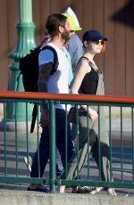 EMMA STONE at Disneyland in Anaheim