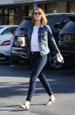 EMMA STONE in Jeans Out and About in Brentwood